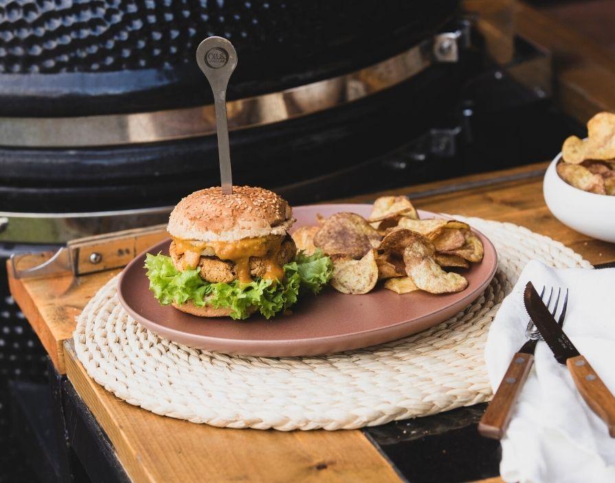 Pittige veggie burger
